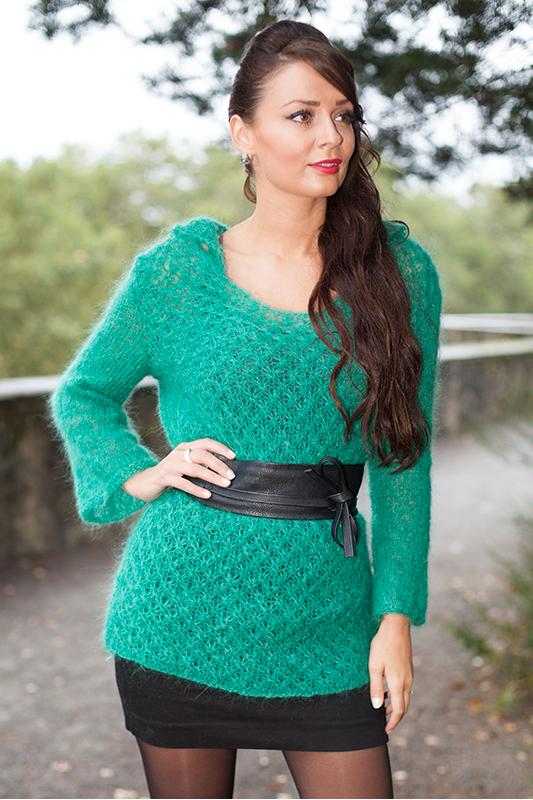 Mod le tricot pull long - Apprendre a tricoter un pull ...