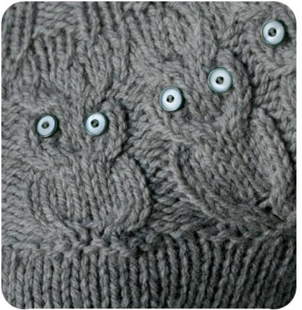 modèle tricot bonnet hiboux