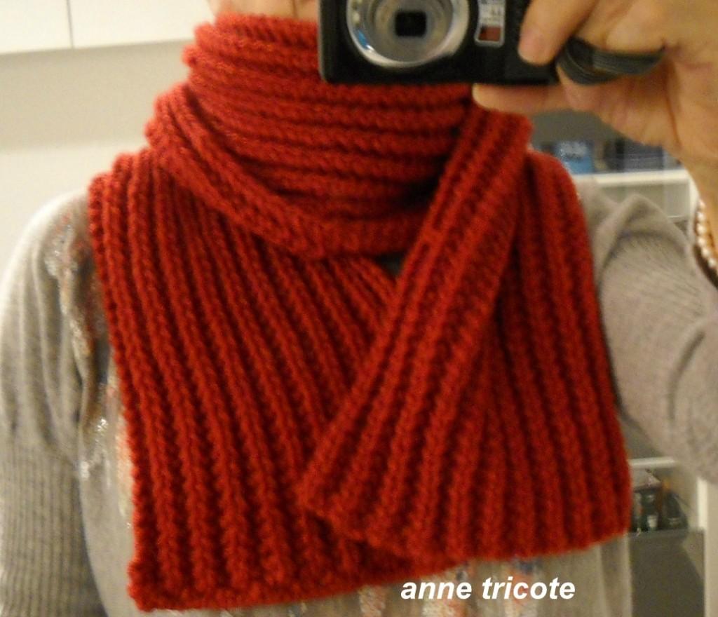 modèle tricot echarpe cote