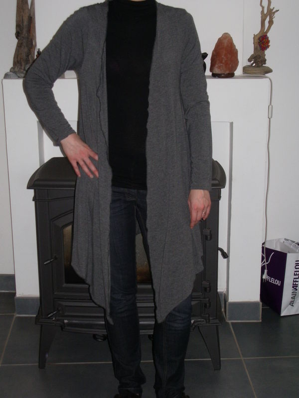 modele tricot gilet drape
