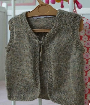 modèle tricot gilet sans manche