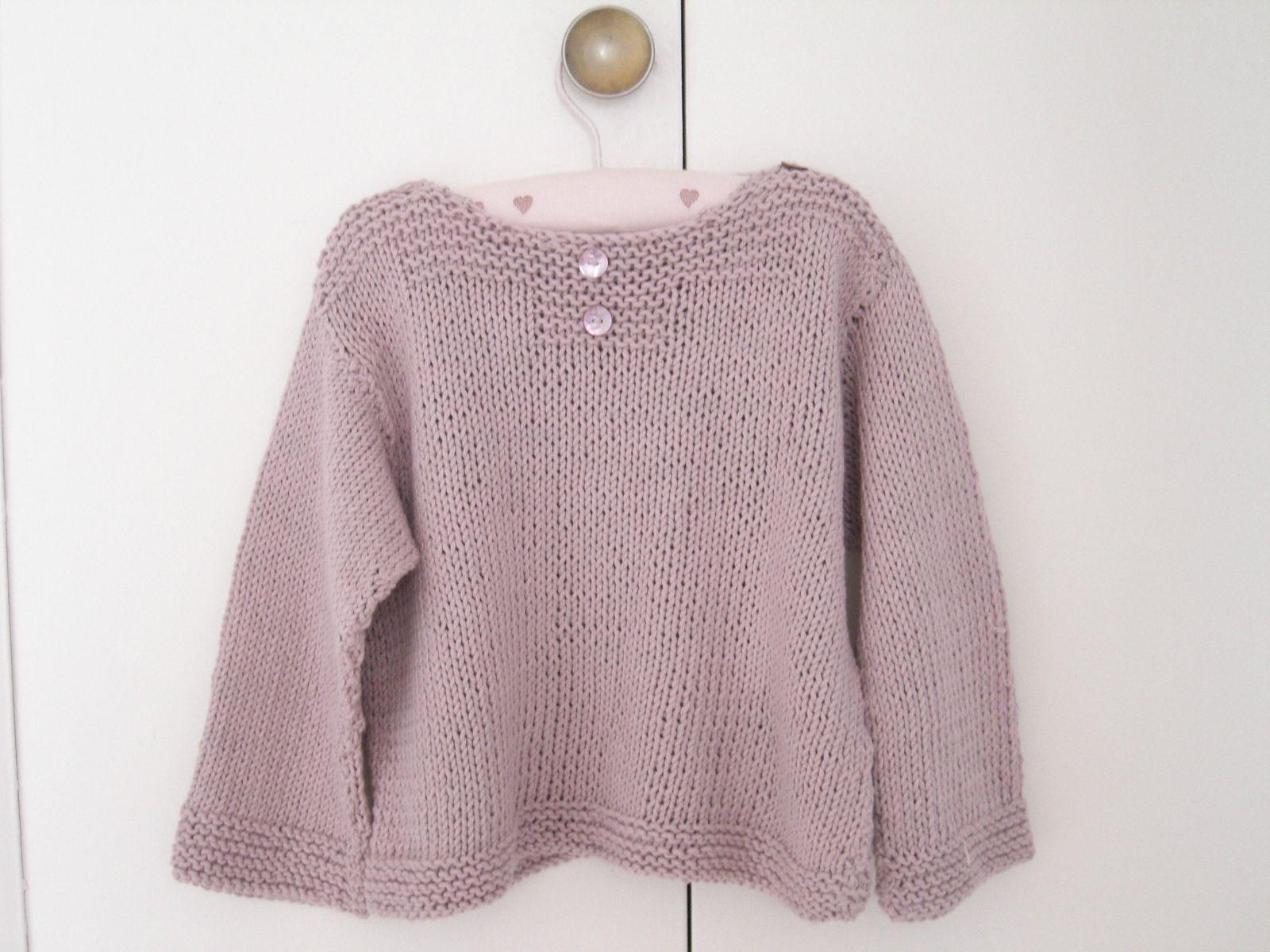modèle tricot pull fille 6 ans