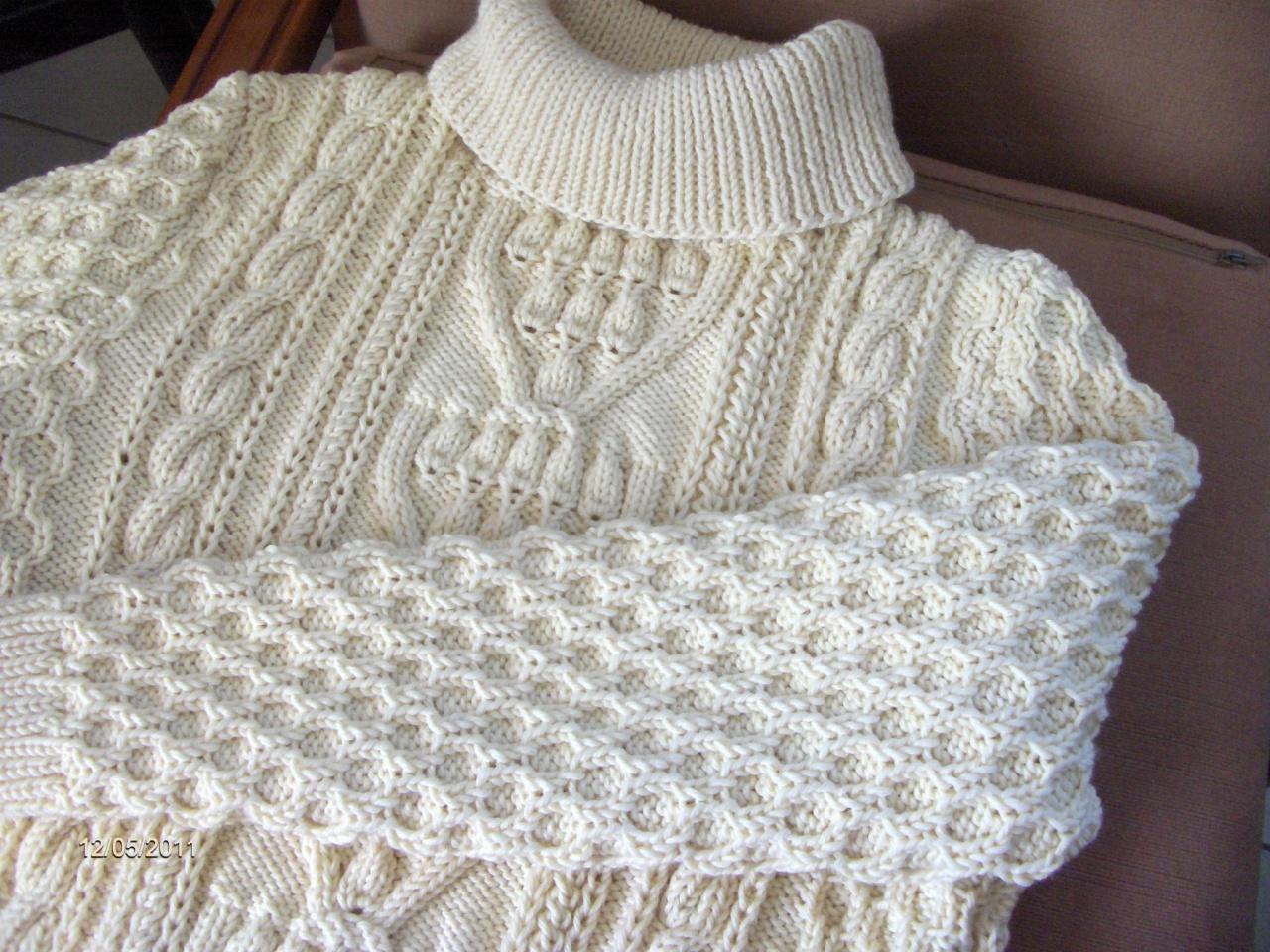 pull irlandais femme a tricoter