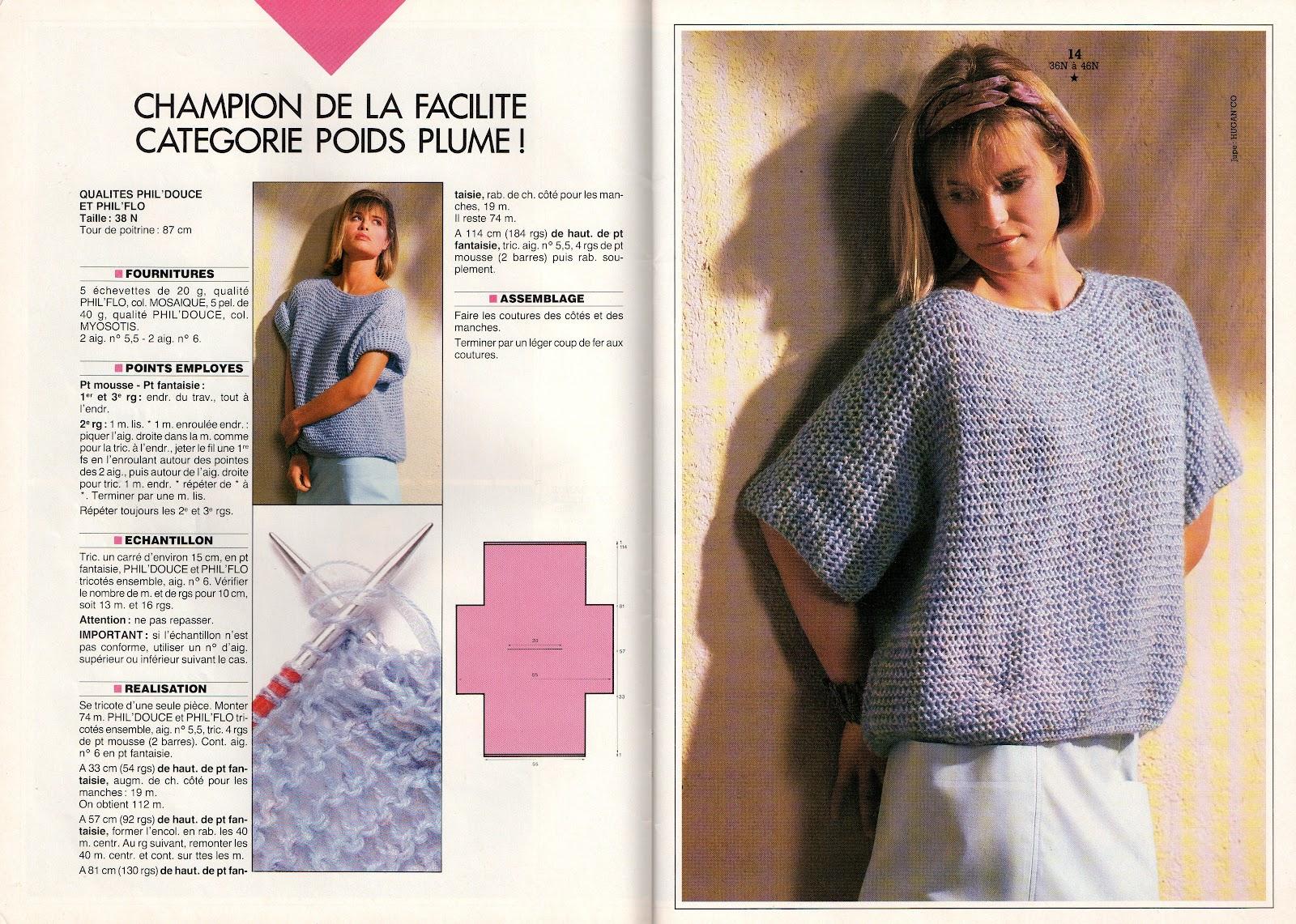 modele tricot gratuit pull tube femme