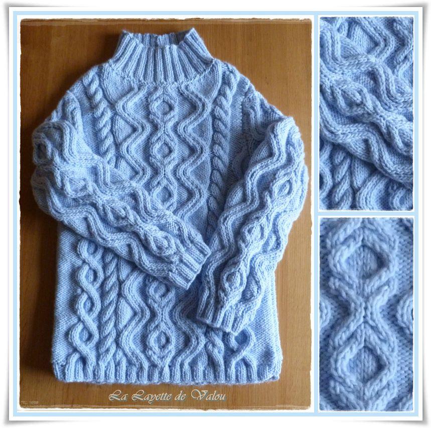 patron tricot irlandais gratuit