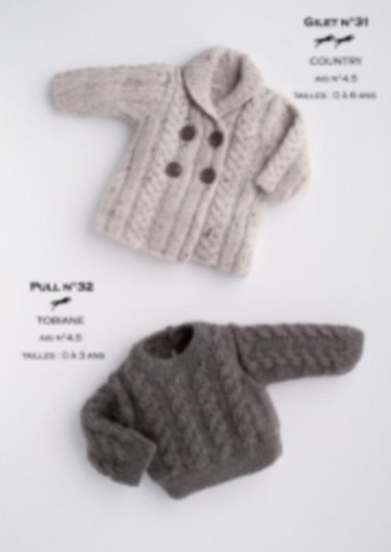 modele tricot gratuit garcon 2 ans