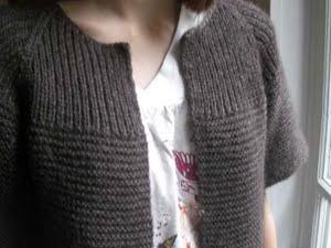 modèle tricot gilet femme grosse laine