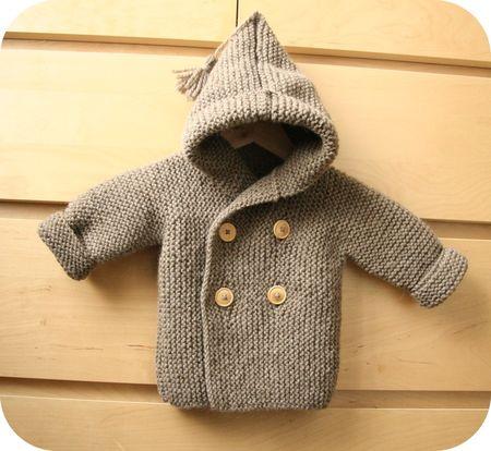 Modele tricot gratuit manteau bebe - Cote 2 2 tricot ...