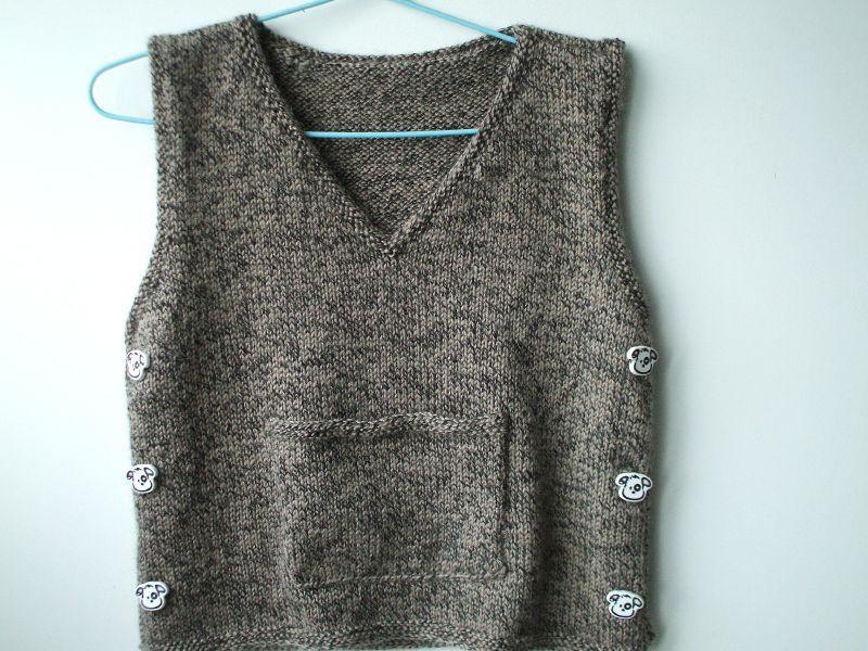 modèle tricot debardeur fille