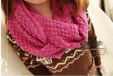 Kit snood (écharpe ronde) aiguilles n°7 ou 8  Kit à tricoter  Cachemire etc
