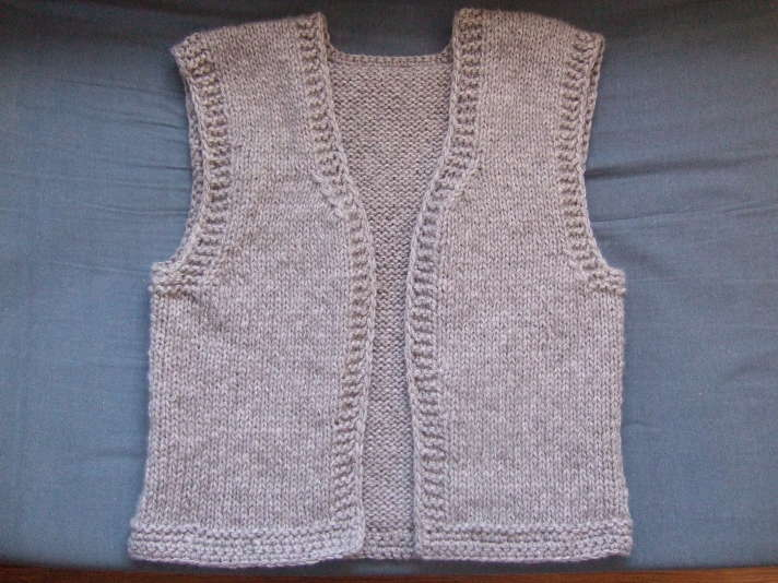 modele tricot pull sans manche bebe