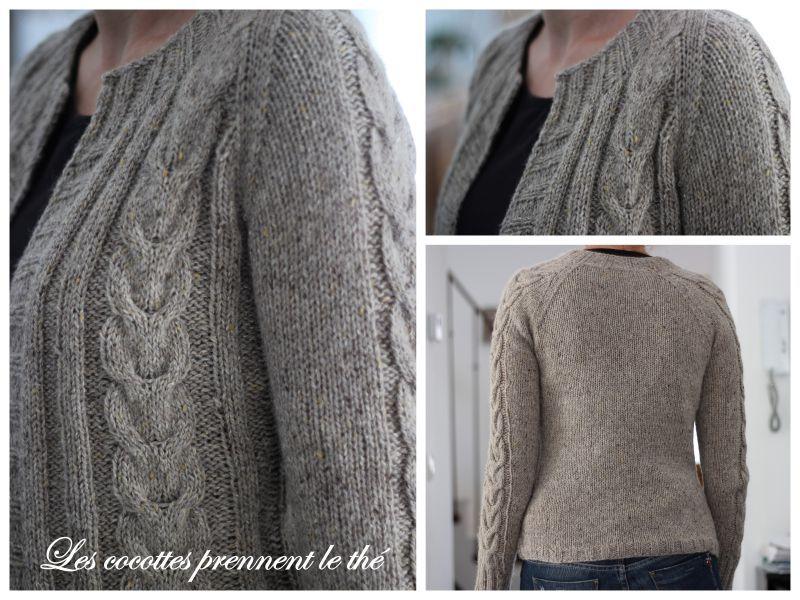 modèle tricot pull grosse laine
