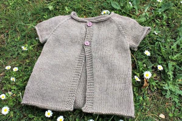 modèle veste tricot fille 6 ans