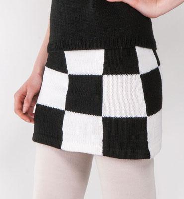 patron tricot jupe gratuit