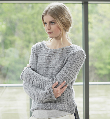 patron tricot pull court