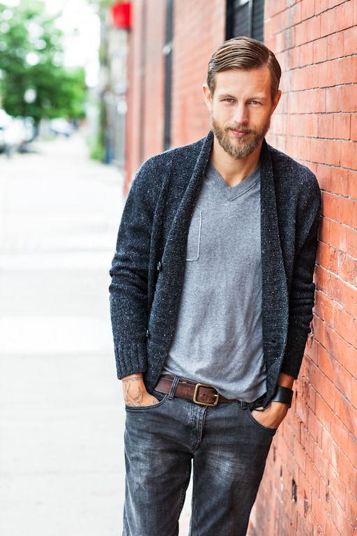 modèle tricot gilet pour homme