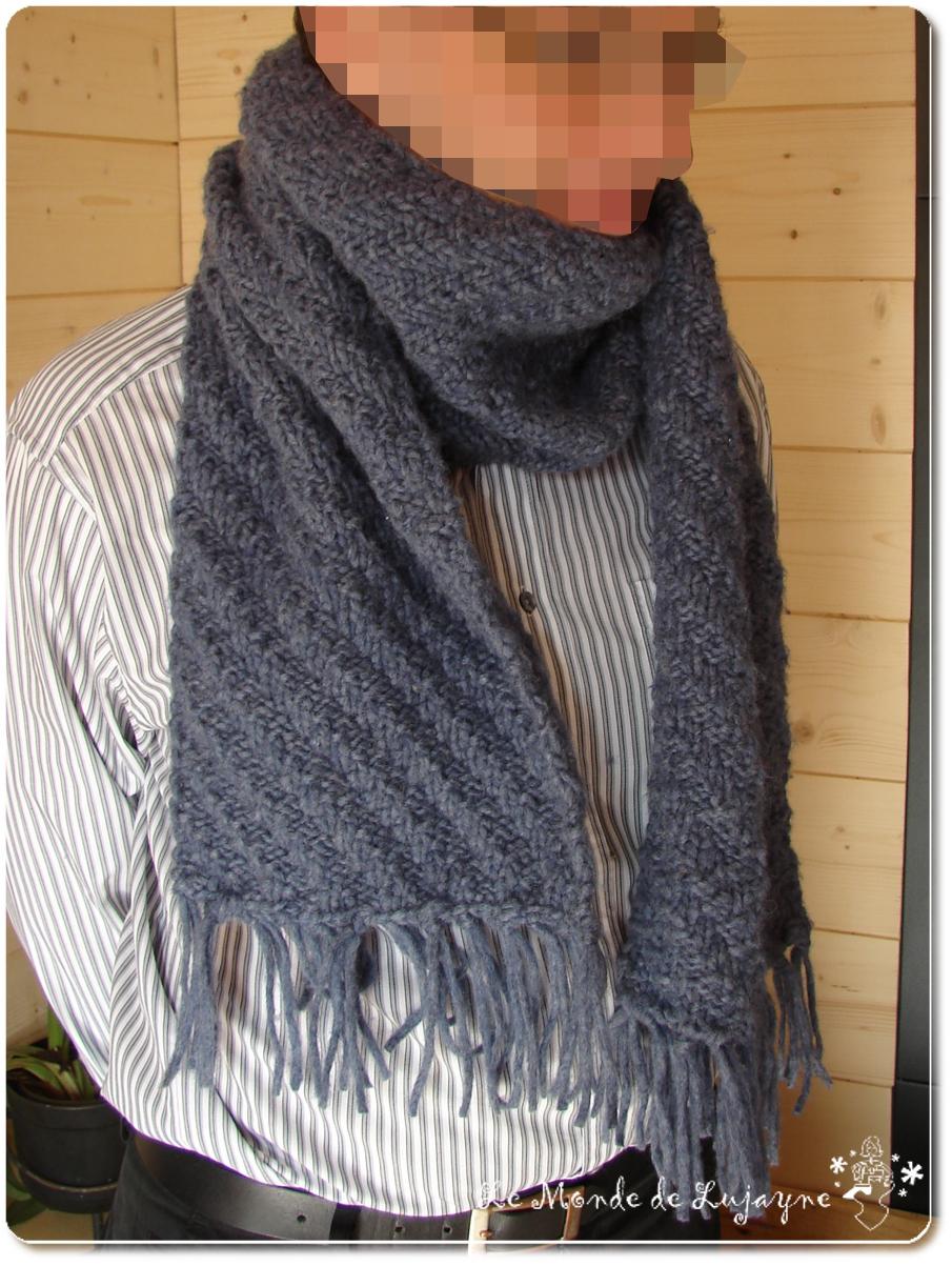 tricoter une echarpe garcon