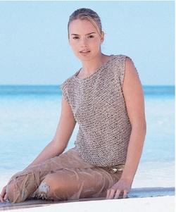 modele tricot debardeur femme
