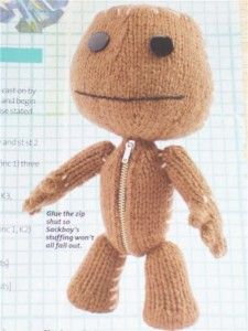 modèle tricot sackboy