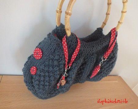 modèle sac en tricot