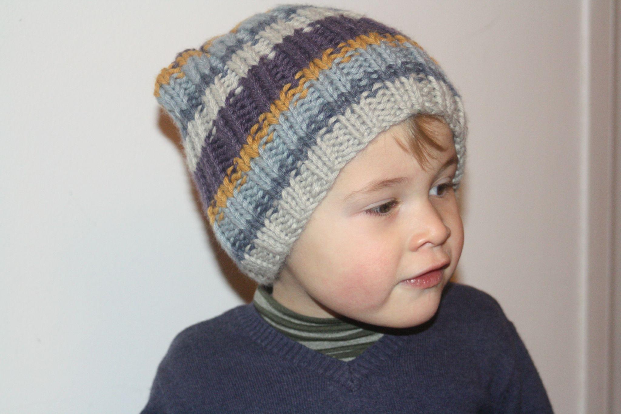 tricoter un bonnet taille 8 ans