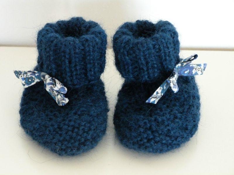 modèle tricot chausson bébé debutant