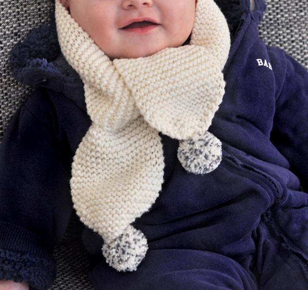 tricoter une echarpe pour bebe