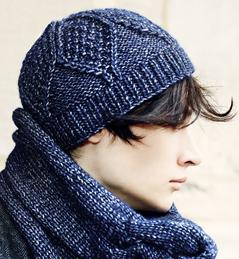 affichage modèle tricot bonnet irlandais bouton source