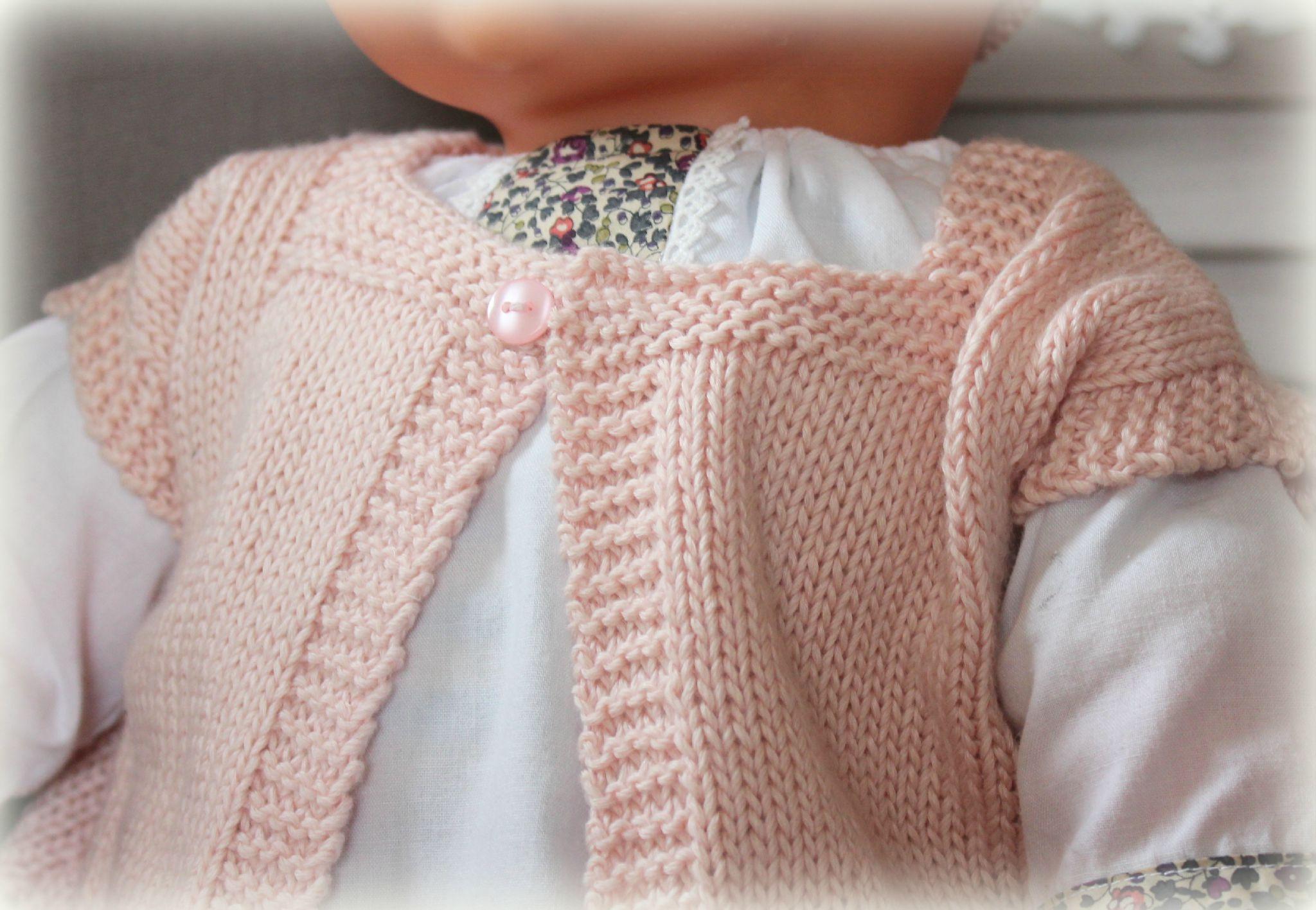 mod232le tricot layette hiver