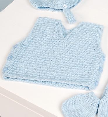 Modèle débardeur 94 30 Pull bébé gratuit à tricoter Mad laine