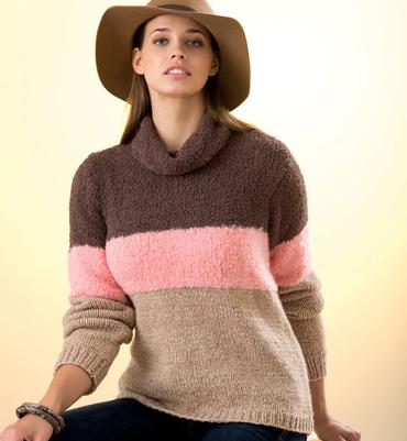 modèle tricot pull col boule