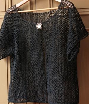 aper u mod le tricot pull femme manches courtes. Black Bedroom Furniture Sets. Home Design Ideas