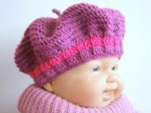 modele bonnet bebe au tricot facile