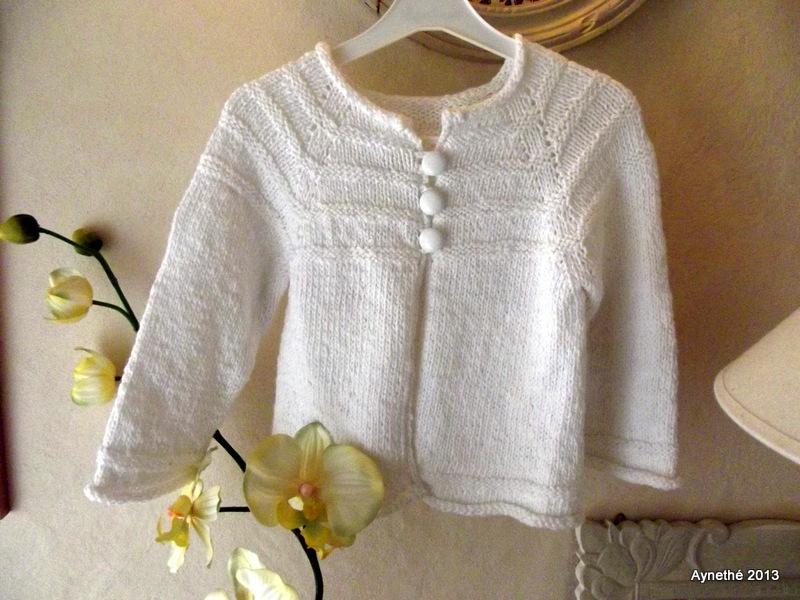 modèle gilet tricot fillette 4 5 ans
