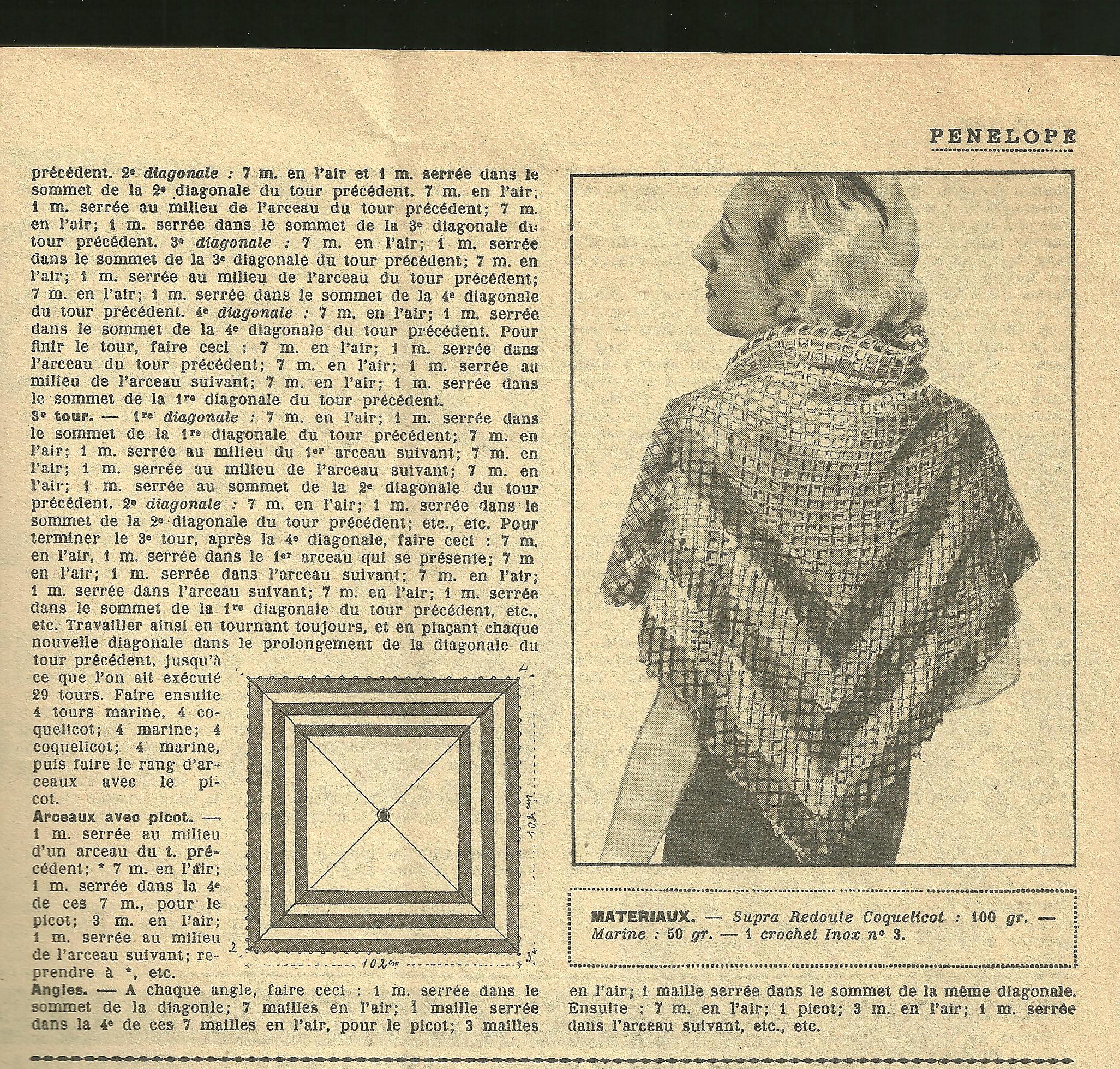 modele tricot ancien