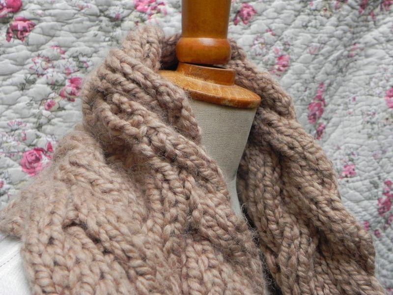 modèle tricot echarpe aiguille 8