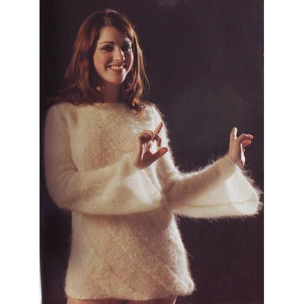 modèle tricot gilet angora
