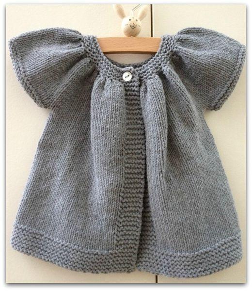 modèle tricot gilet fille 2 ans gratuit