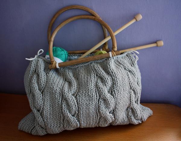 modèle tricot pour sac