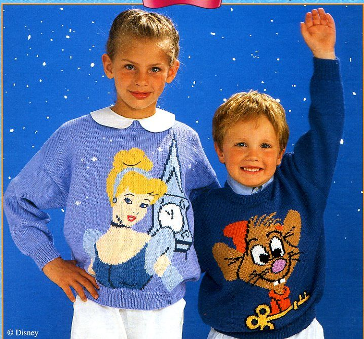 modèle tricot pull disney