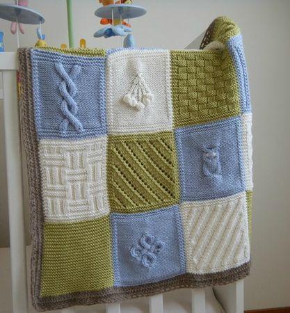 modèle couverture au tricot pour bébé gratuit