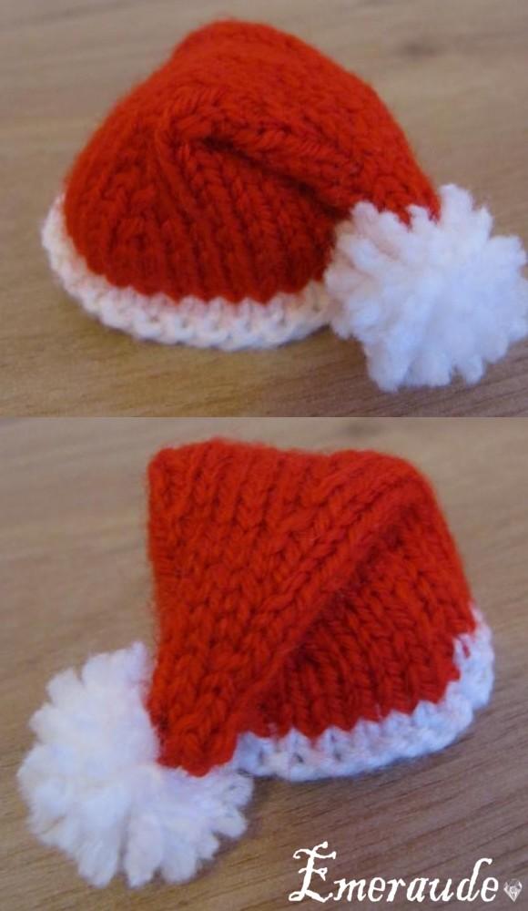 tricoter un bonnet de pere noel