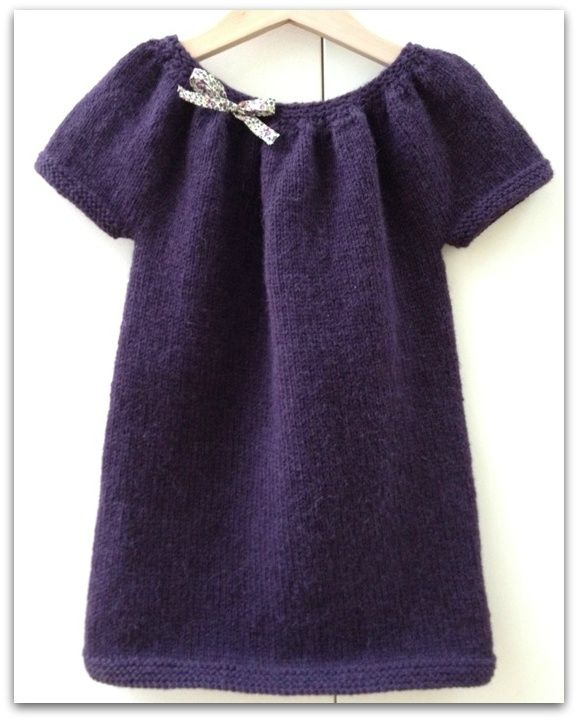 modèle tricot robe tunique fillette