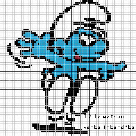modèle tricot schtroumpf