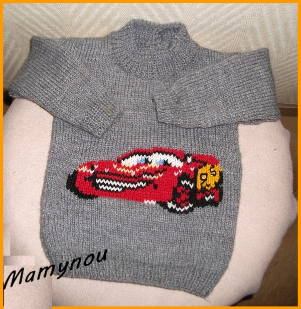 modèle pull tricot machine