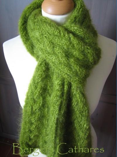 15d8d7fb36f cliché modèle tricot echarpe en mohair ...