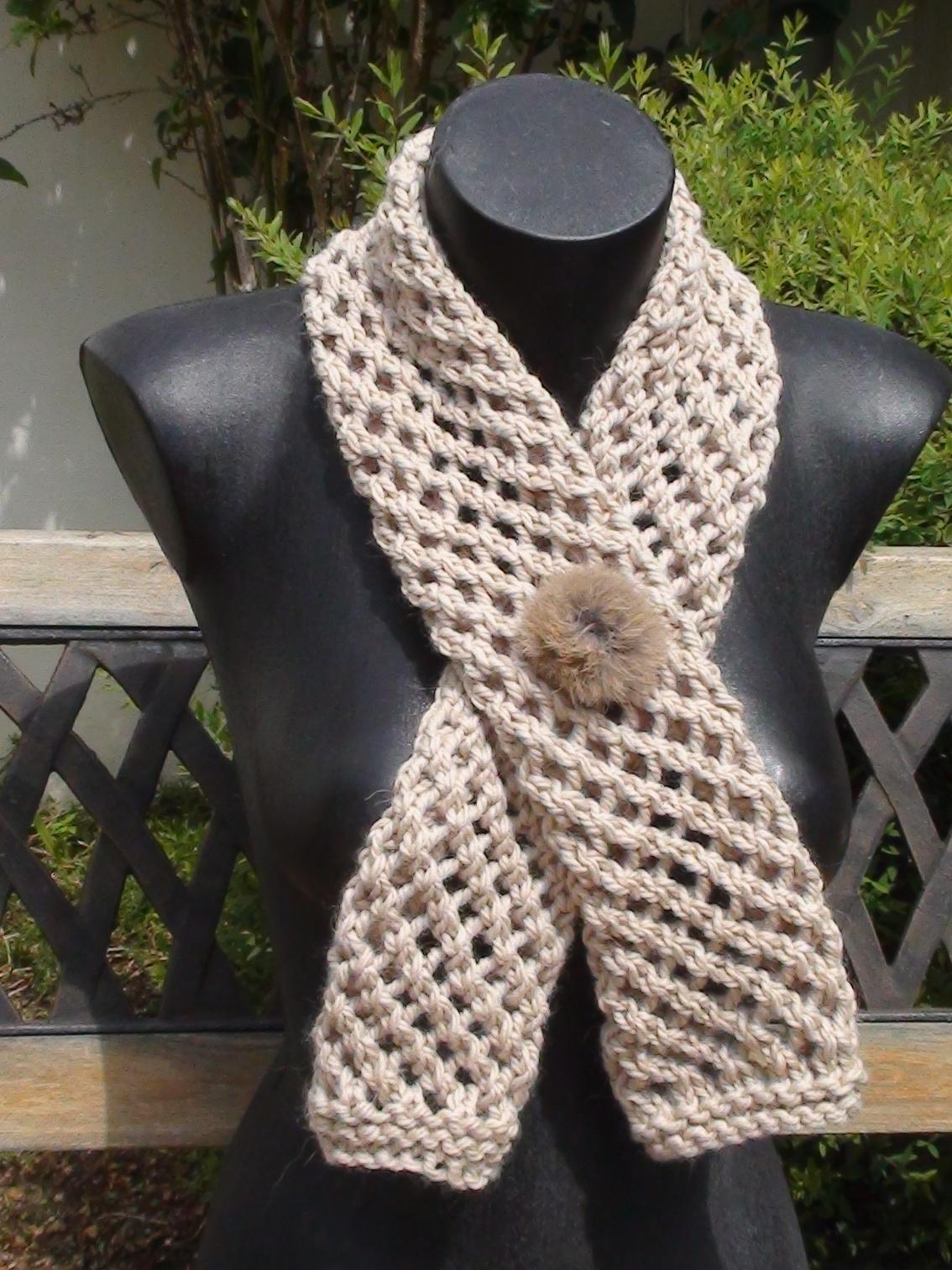 Modele tricot echarpe fantaisie - Tricoter une echarpe en laine ...
