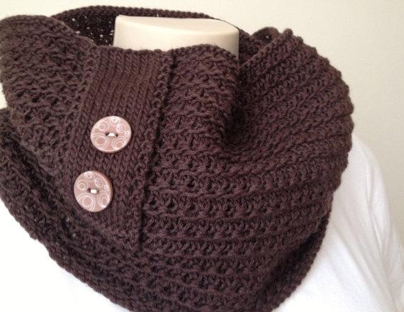 patron tricot foulard infinity