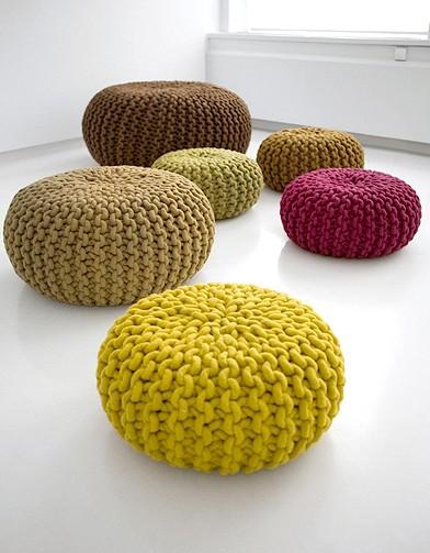 patron tricot pouf. Black Bedroom Furniture Sets. Home Design Ideas