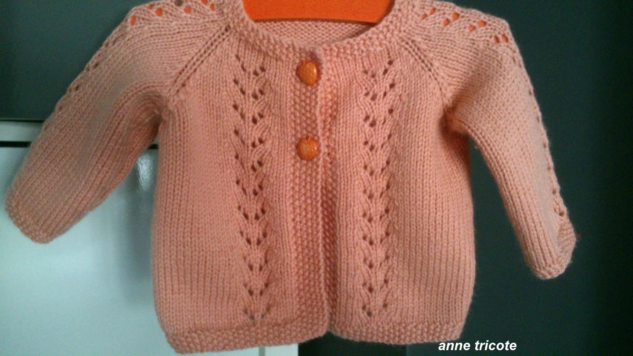 modele tricot bolero fillette